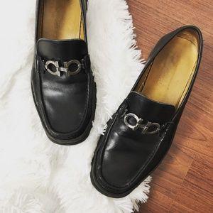 Salvatore Ferragamo $595 David bit leather loafer